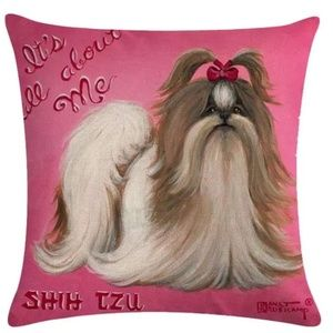 Other - Pillow Cover- New  Shih Tzu